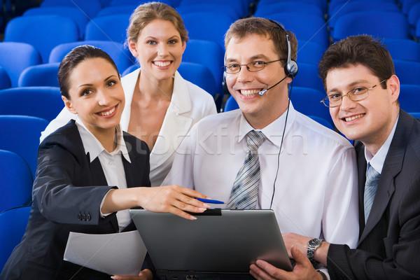 üzlet oktatás csapat fiatal emberek együtt Stock fotó © pressmaster