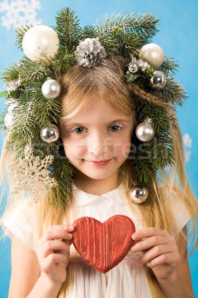 Girl with heart Stock photo © pressmaster