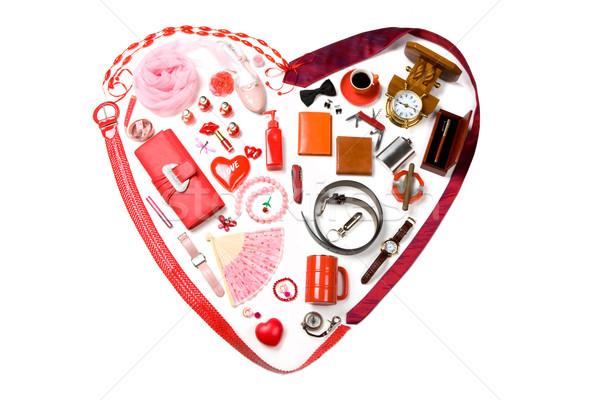 Stock fotó: Szimbólum · szeretet · kép · szív · felfelé · hölgy