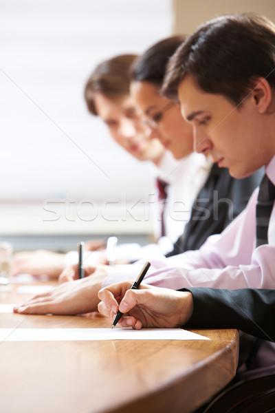 Сток-фото: Дать · люди · таблице · человека · студент