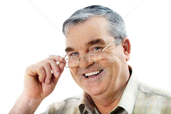 Kıdemli adam portre yaşlı bakıyor kamera Stok fotoğraf © pressmaster
