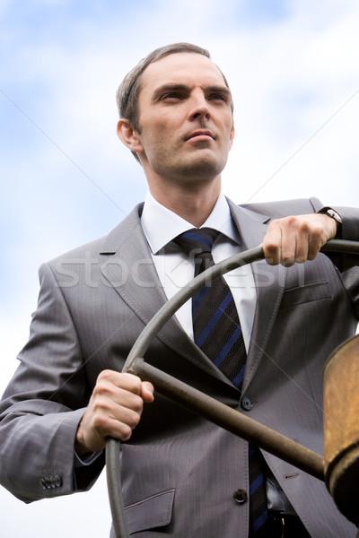 Bestuurder portret krachtig zakenman Stockfoto © pressmaster