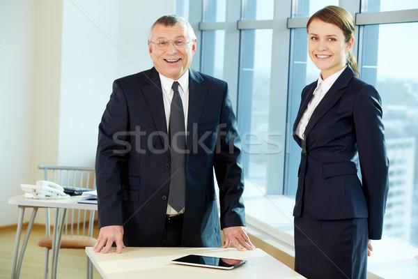 Feliz parceria patrão secretário escritório negócio Foto stock © pressmaster