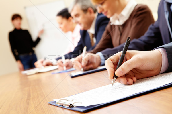 Сток-фото: бизнеса · подготовки · деловые · люди · Дать · текста