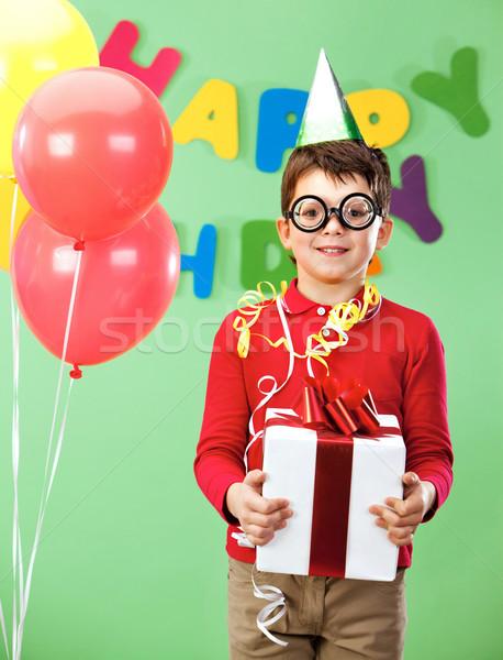 Boy with giftbox Stock photo © pressmaster
