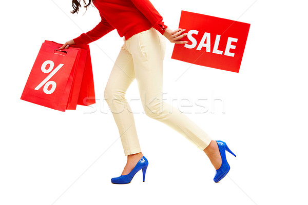 Photo stock: Vente · jambes · dame · rouge
