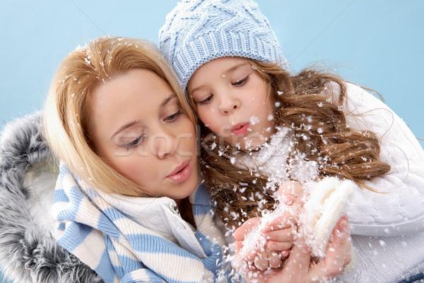 Blowing snow Stock photo © pressmaster