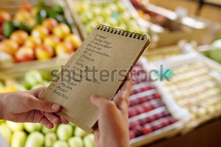 List of products Stock photo © pressmaster