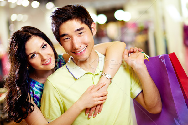 Stock photo: Portrait of shoppers