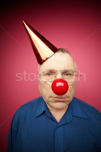 Infeliz retrato hombre rojo nariz Foto stock © pressmaster