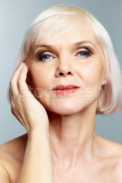 Mulher senior idade mão Foto stock © pressmaster