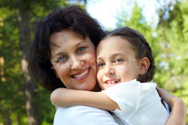 Genegenheid portret moeder dochter zomervakantie Stockfoto © pressmaster