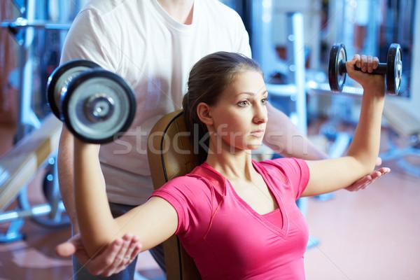 Pumping muscles Stock photo © pressmaster