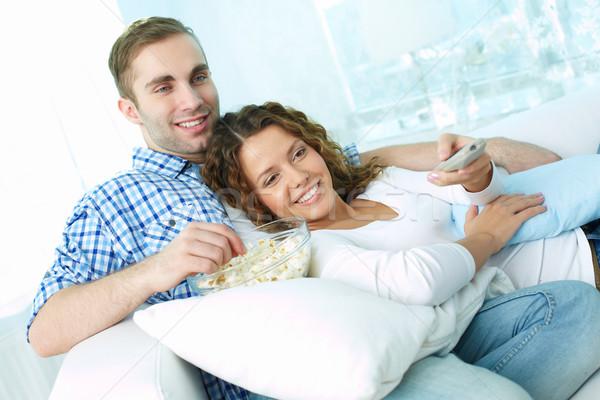 Pigro amanti giovani fine settimana guardare Foto d'archivio © pressmaster