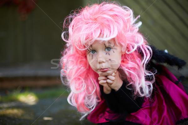 Girl in Halloween clothes Stock photo © pressmaster
