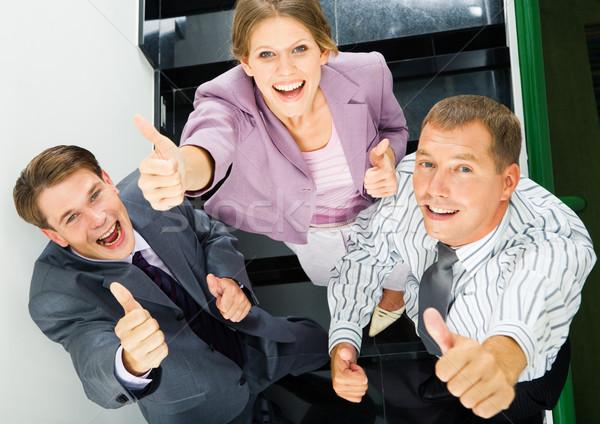 Сток-фото: знак · хорошо · портрет · деловые · люди · бизнеса · улыбка