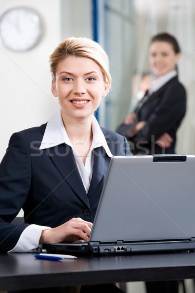 Gülümseyen kadın portre gülen iş kadını ofis çevre Stok fotoğraf © pressmaster