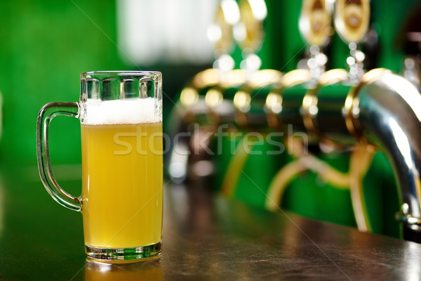 Glass of beer Stock photo © pressmaster