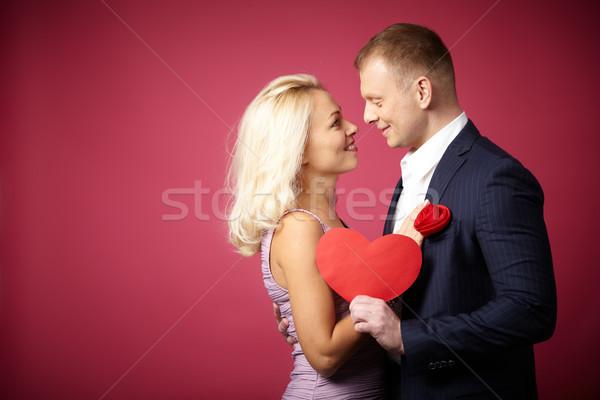 Atracción dos jóvenes fechas mirando uno Foto stock © pressmaster