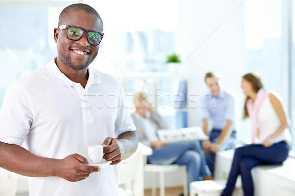 Man with cup Stock photo © pressmaster