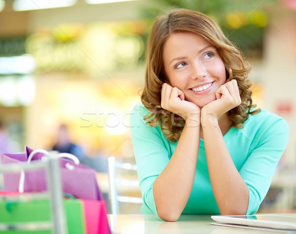 мечтатель изображение торговых девушки посмотреть Сток-фото © pressmaster