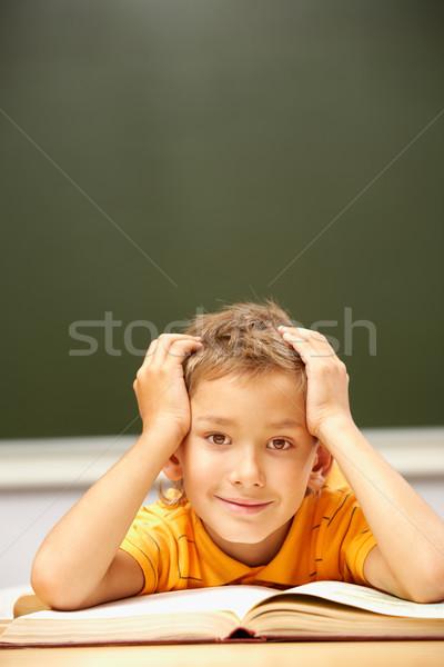 молодой читатель портрет Smart парень глядя Сток-фото © pressmaster