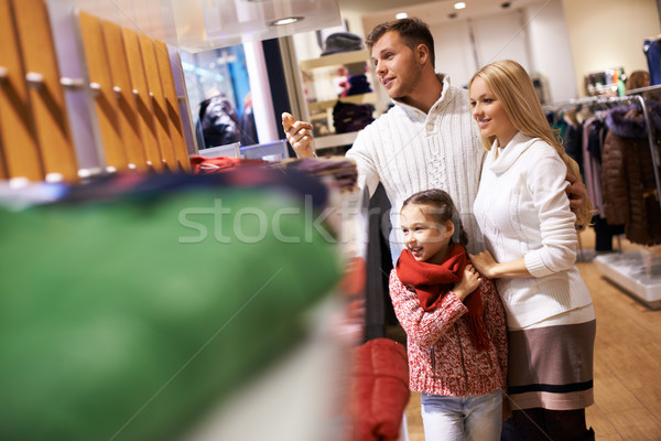 Family in the mall Stock photo © pressmaster