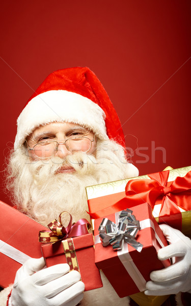 Noel gelenek fotoğraf mutlu noel baba bakıyor Stok fotoğraf © pressmaster