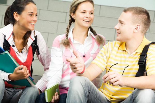 Foto stock: Imagem · três · atraente · estudantes · mulher