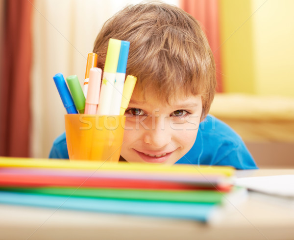 Cute schoolboy Stock photo © pressmaster