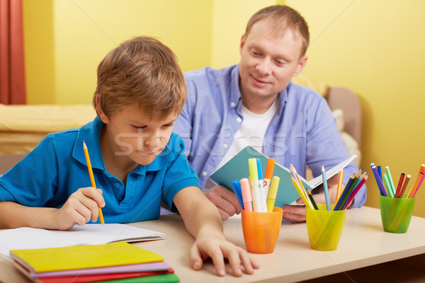 Doing schoolwork at home Stock photo © pressmaster