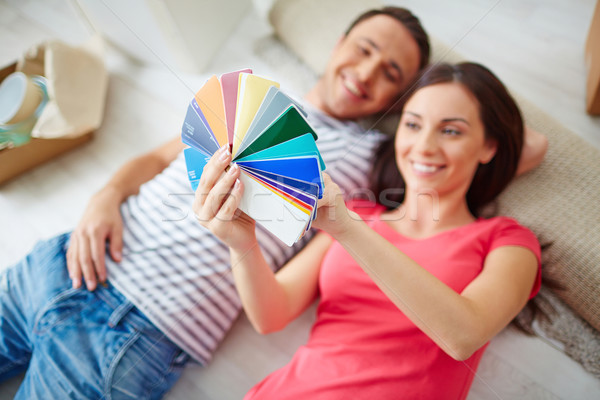Palette in hand Stock photo © pressmaster