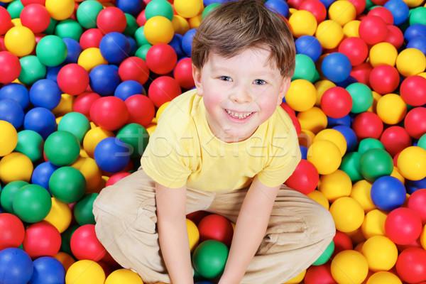 Boy and balls Stock photo © pressmaster