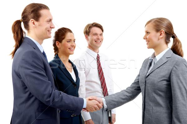 Muhteşem anlaşma fotoğraf başarılı İş ortaklarımız imza Stok fotoğraf © pressmaster
