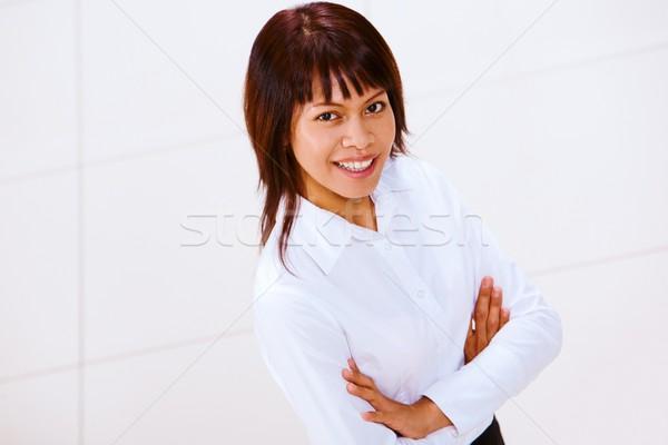Udany pracodawca portret elegancki kobieta interesu patrząc Zdjęcia stock © pressmaster
