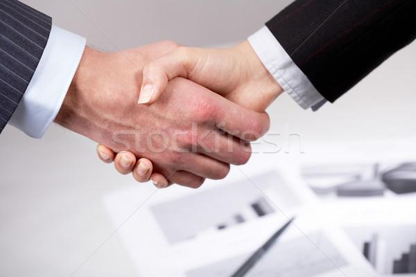 Zdjęcia stock: Fotografia · handshake · podpisania · działalności · strony