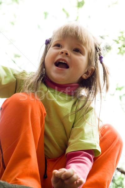 ストックフォト: 楽しい · 肖像 · かわいい · 少女 · 外