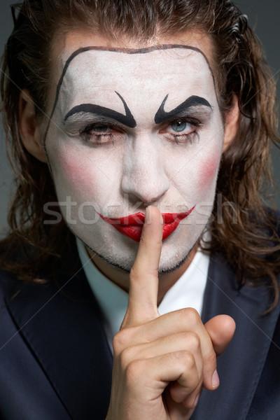 Silenzio oro ritratto imprenditore teatrale trucco Foto d'archivio © pressmaster