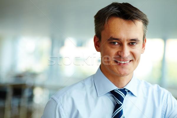 Feliz empleador retrato atractivo masculina mirando Foto stock © pressmaster