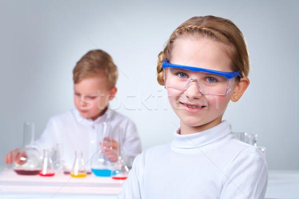 молодой мало мальчика рабочих жидкость помощник Сток-фото © pressmaster