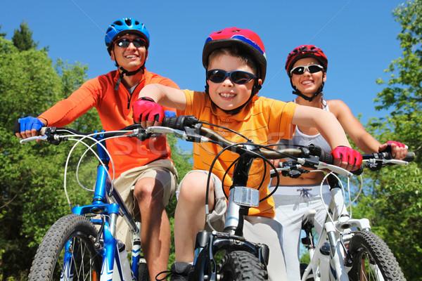 Foto d'archivio: Giovanile · ciclista · ritratto · equitazione · bicicletta