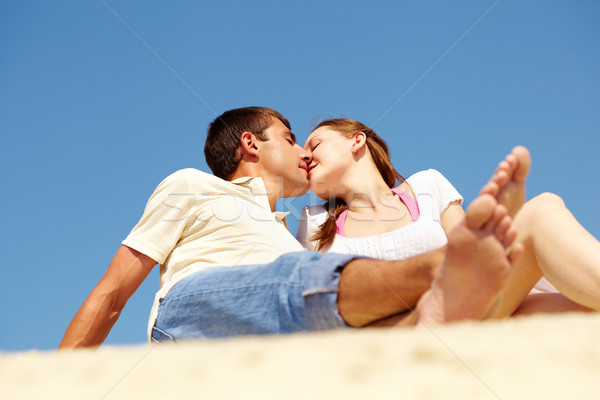 Stock photo: Summer kiss