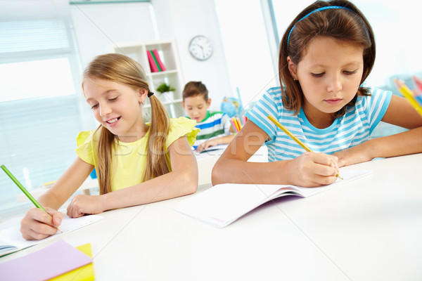 Girls drawing Stock photo © pressmaster