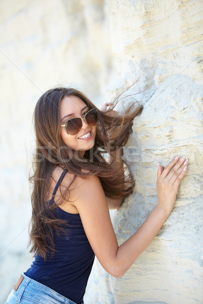Adorable touristiques vertical portrait beauté Photo stock © pressmaster