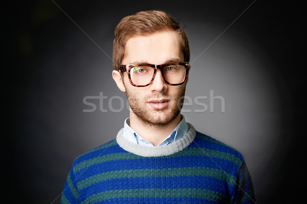 Elegáns fickó portré vonzó férfi lezser Stock fotó © pressmaster
