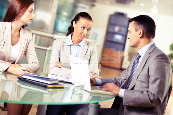 переговоры группа Бизнес-партнеры заседание служба бизнеса Сток-фото © pressmaster