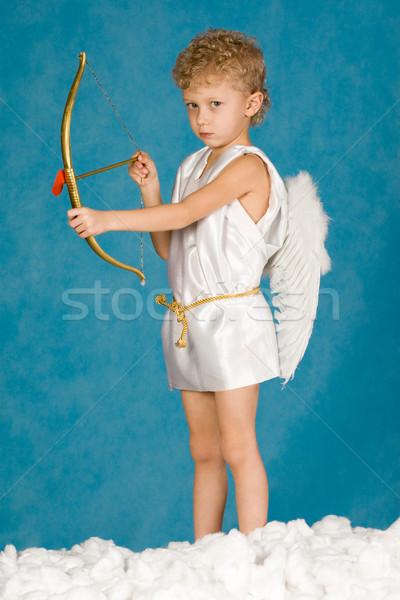 Stockfoto: Mannelijke · engel · portret · jonge · boeg