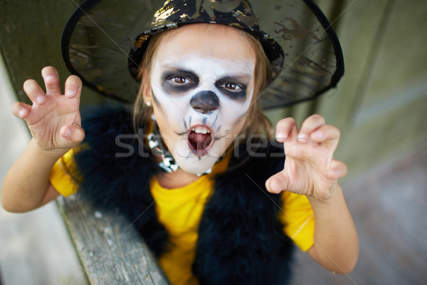 Zło portret cute dziewczyna halloween kostium Zdjęcia stock © pressmaster