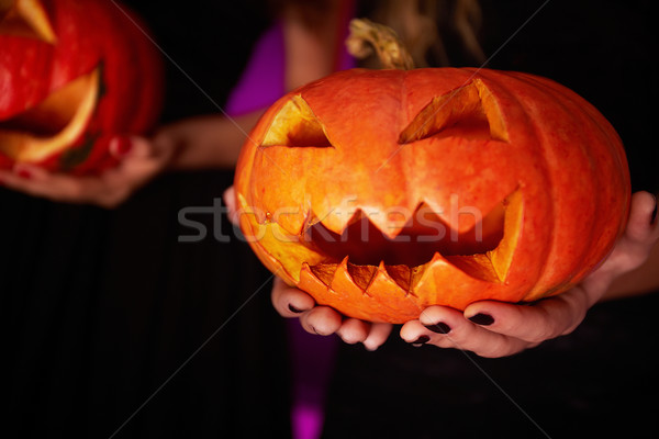 Carved pumpkin Stock photo © pressmaster