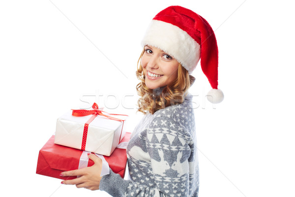 Girl with presents Stock photo © pressmaster